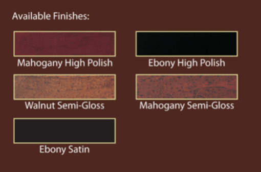 Wm. Knabe & Co. WG 50 Cabinet Finishes