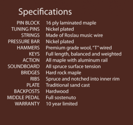 Wm. Knabe & Co. WG 50 Specifications
