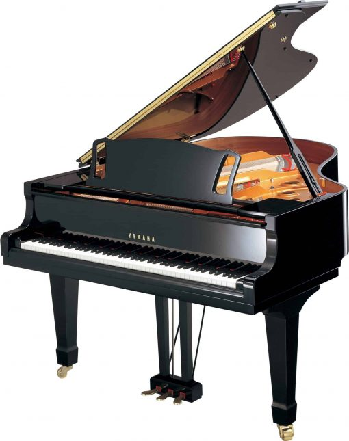 Yamaha C3X Grand Piano Angle View