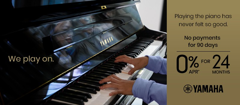 Banner for Piano Sale 0 Payments for 90 days plus 0 percent APR for 24 months