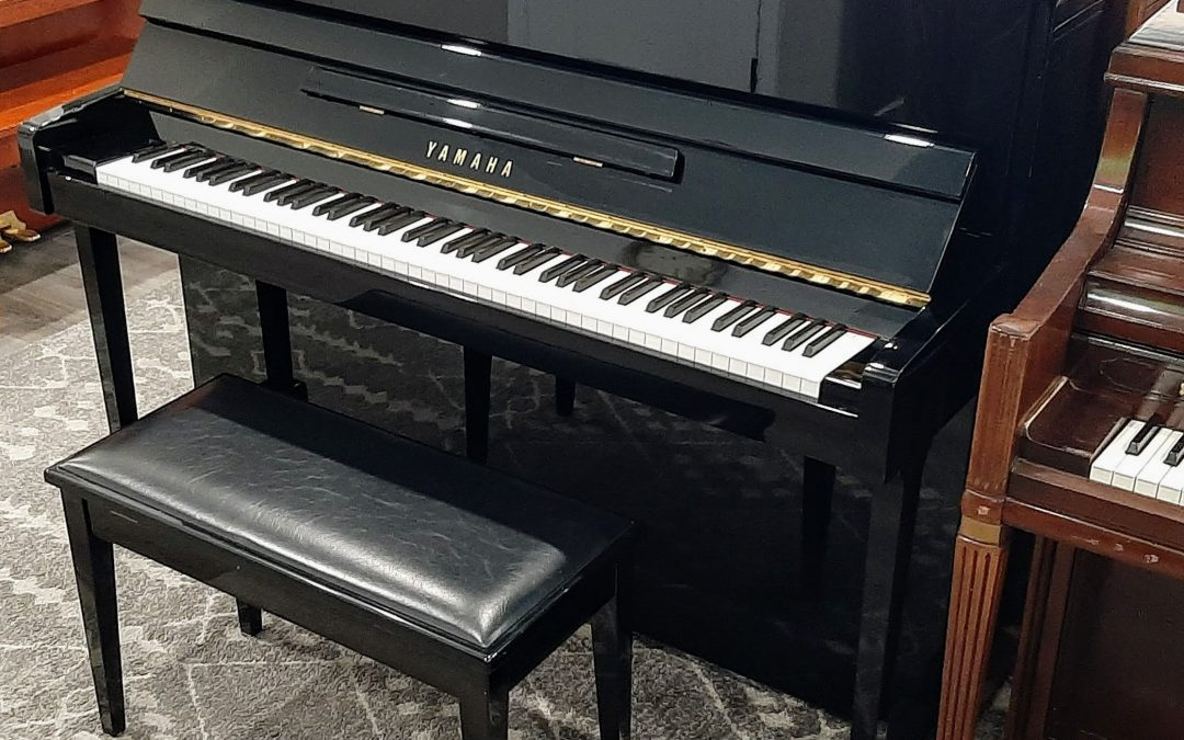 • SOLD • Professional Yamaha Polished Ebony Upright Piano – St George